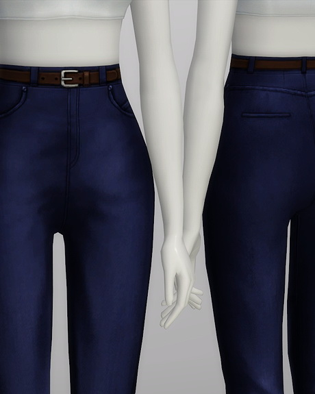 High waist jeans at Rusty Nail image 575 Sims 4 Updates