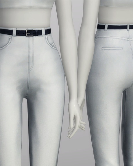 High waist jeans at Rusty Nail image 576 Sims 4 Updates
