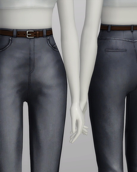 High waist jeans at Rusty Nail image 577 Sims 4 Updates