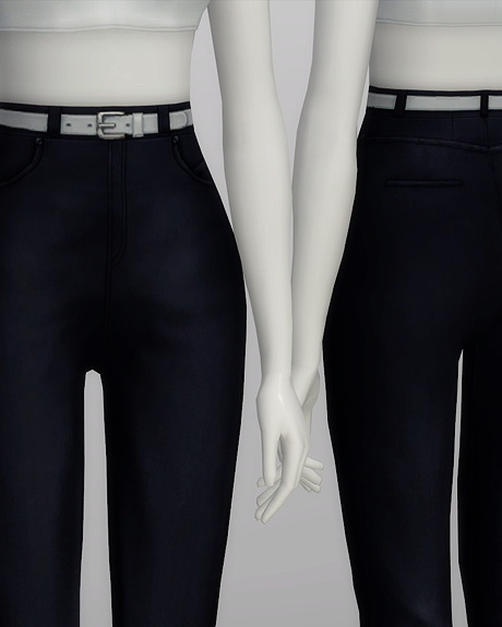 High waist jeans at Rusty Nail image 578 Sims 4 Updates