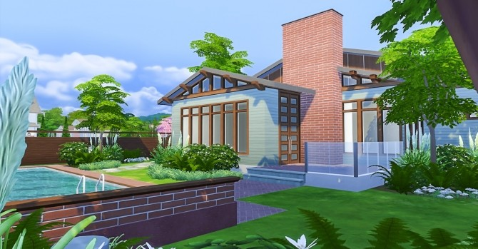 Sims 4 Apex Ranch A Mid Century Home at Simsational Designs
