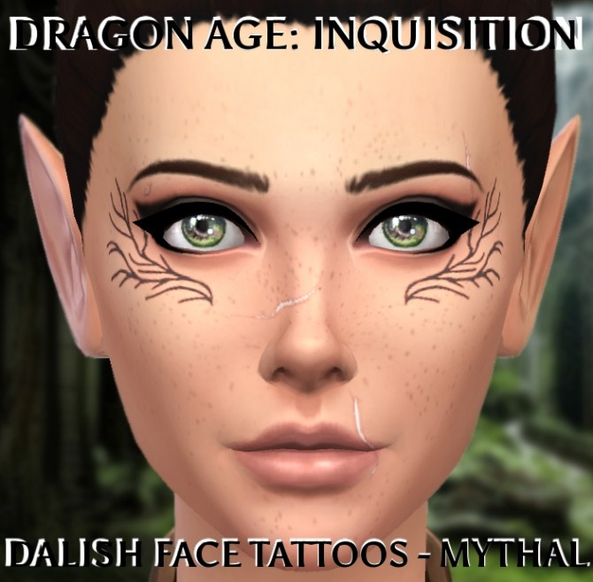 Sims 4 Dragon Age Inquisition Dalish Tattoo by clalobaciel at Mod The Sims