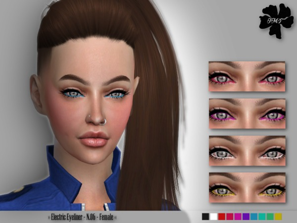 IMF Electric Eyeliner N.06 by IzzieMcFire at TSR image 649 Sims 4 Updates