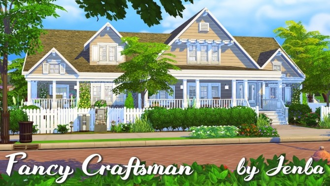 Fancy Craftsman house at Jenba Sims image 655 670x377 Sims 4 Updates