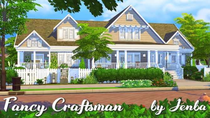 Fancy Craftsman House At Jenba Sims 187 Sims 4 Updates