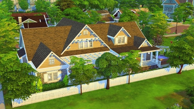 Fancy Craftsman house at Jenba Sims image 665 670x377 Sims 4 Updates