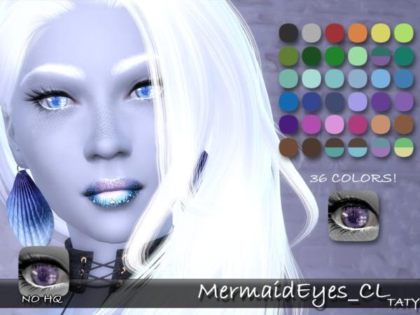 Sims 4 Mermaid Eyes CL by tatygagg at TSR