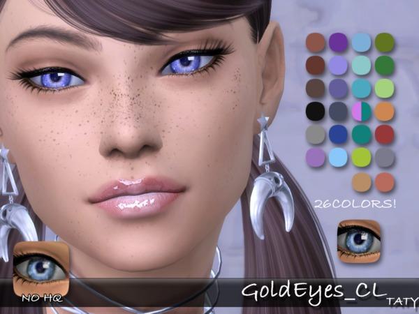 Sims 4 Gold Eyes CL by tatygagg at TSR