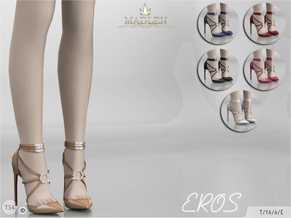 Sims 4 Madlen Eros Shoes by MJ95 at TSR