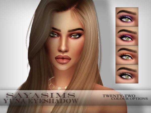 Sims 4 Yuna Eyeshadow by SayaSims at TSR