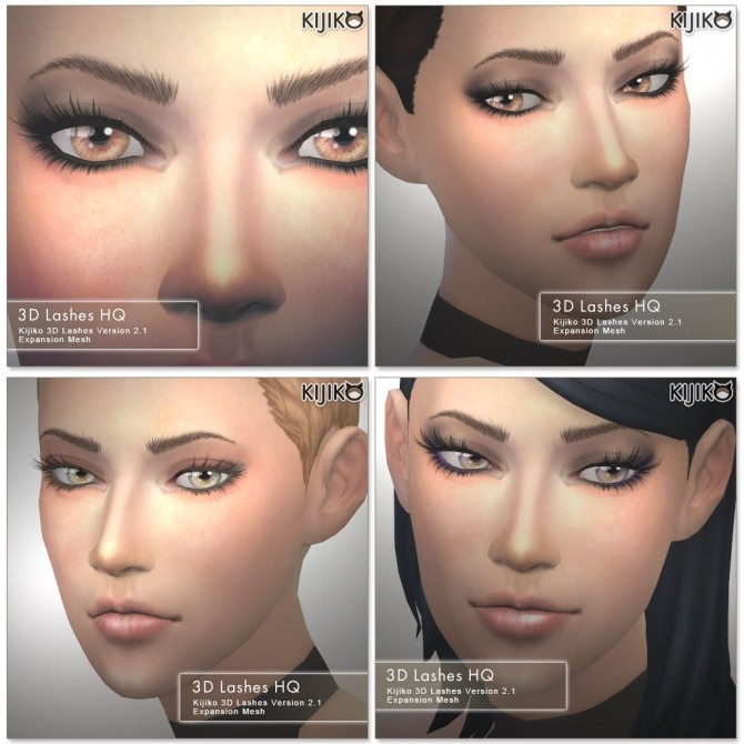Sims 4 3D Lashes Version2 HQ at Kijiko