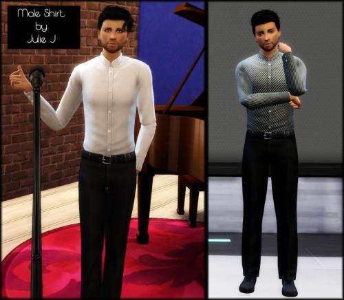 Sims 4 Male DiningOut Stuff Shirt Retextured at Julietoon – Julie J