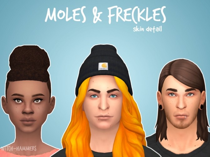 Sims 4 Freckles and Moles by witch hammers at Mod The Sims
