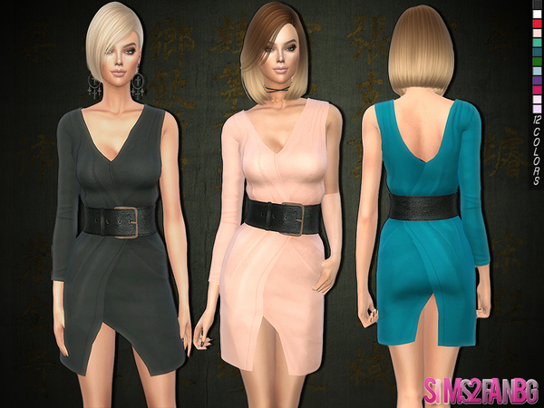 3d dress with belt by sims2fanbg at TSR image 830 Sims 4 Updates