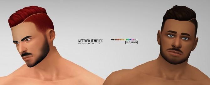 Metropolitan Slick hair by Xld Sims at SimsWorkshop image 848 670x272 Sims 4 Updates