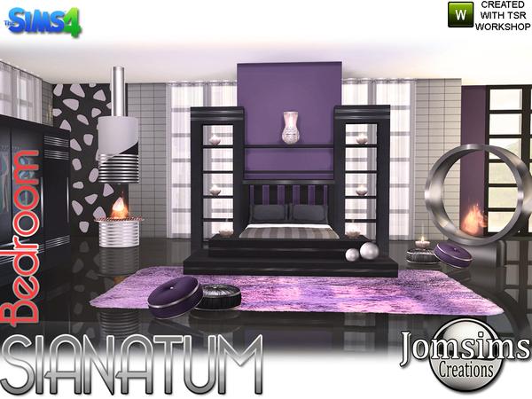 Sims 4 Sianatum bedroom by jomsims at TSR