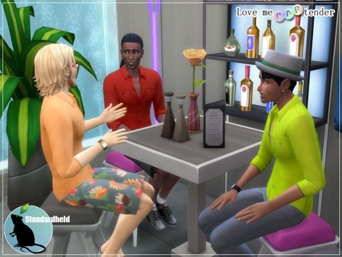 Sims 4 Recolors of the untucked bartender shirt by Standardheld at SimsWorkshop