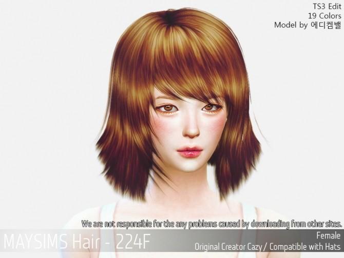 Sims 4 Hair 224F (Cazy) at May Sims