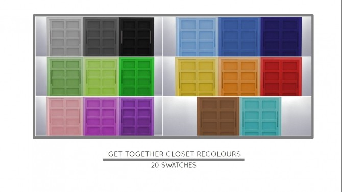 Sims 4 Perfect Size Closet Recolours by MrMonty96 at Mod The Sims