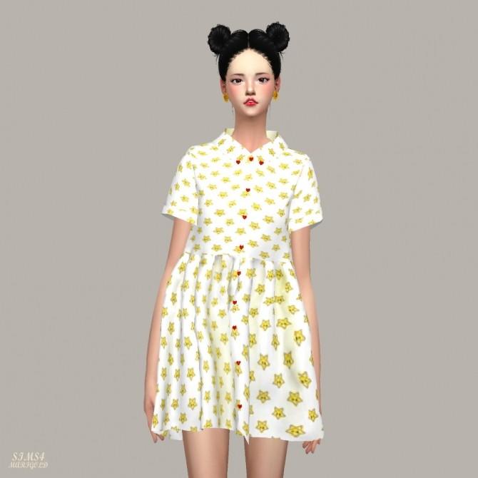 Sims 4 Heart Button Shirts Dress at Marigold