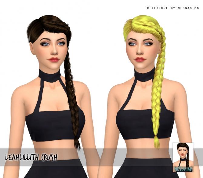 Leahlillith Crush Hair Retexture At Nessa Sims 187 Sims 4