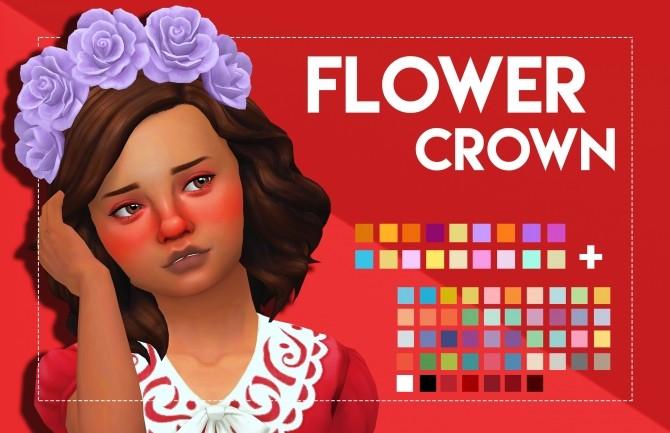 Sims 4 Flower Crown Kids Version by Weepingsimmer at SimsWorkshop