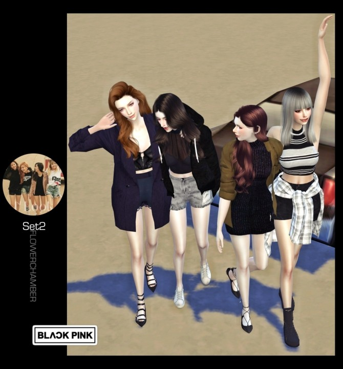Blackpink Poses Set At Flower Chamber 187 Sims 4 Updates