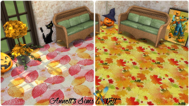 Autumn Carpet Floors at Annett's Sims 4 Welt image 1001 Sims 4 Updates