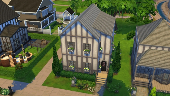Old house no cc by wolverine2 at mod the sims sims 4 updates for Classic house sims 4