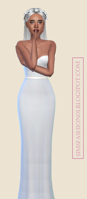 Floral Wedding Dress at Sims Fashion01 image 1012 Sims 4 Updates