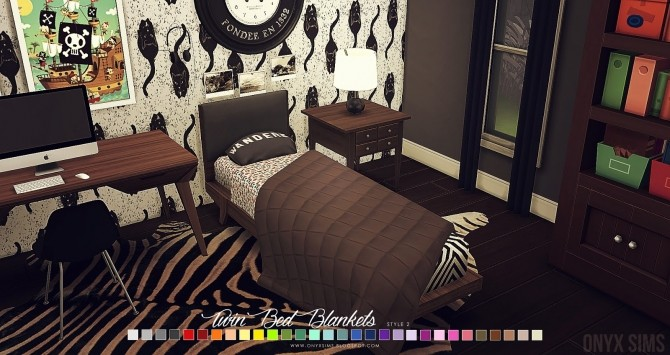 Twin Size Boy Bedding Amp Blankets At Onyx Sims 187 Sims 4 Updates