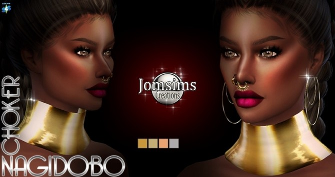 Sims 4 Nagidobo choker at Jomsims Creations