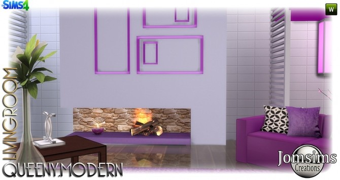 Sims 4 Queeny livingroom at Jomsims Creations