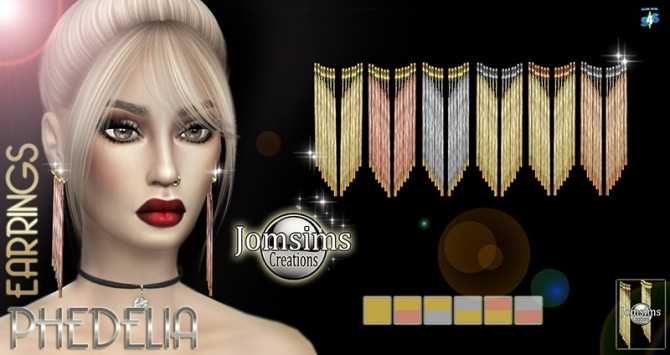 Sims 4 Phedelia earrings at Jomsims Creations