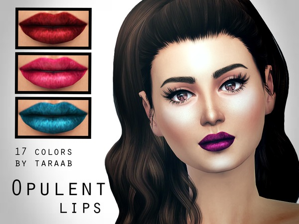 Sims 4 Opulent Lips by taraab at TSR
