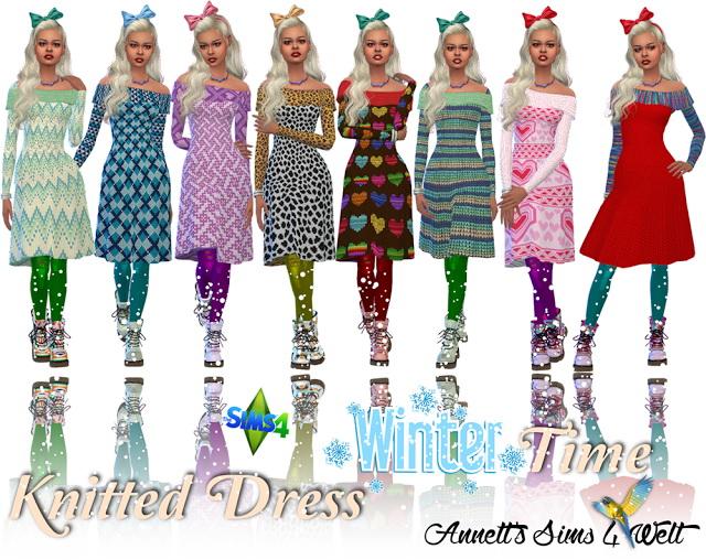 Knitted Dress Wintertime at Annett's Sims 4 Welt image 1053 Sims 4 Updates