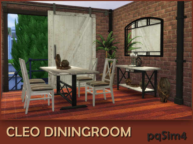 Cleo industrial dining room at pqSims4 image 1103 Sims 4 Updates