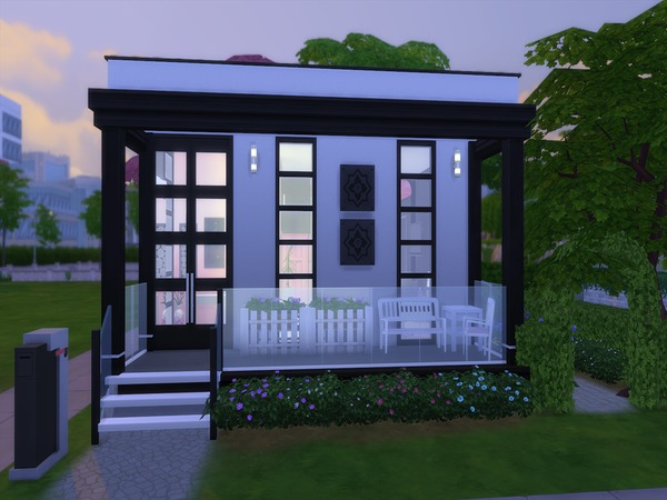Perfect Cubic House by PxiPlays at TSR image 1108 Sims 4 Updates