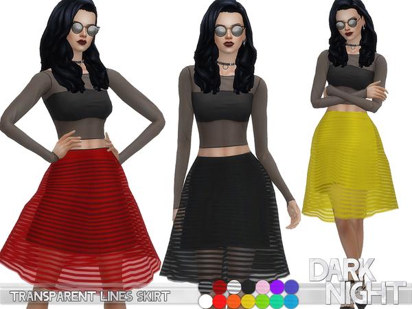 Sims 4 Transparent Lines Skirt by DarkNighTt at TSR