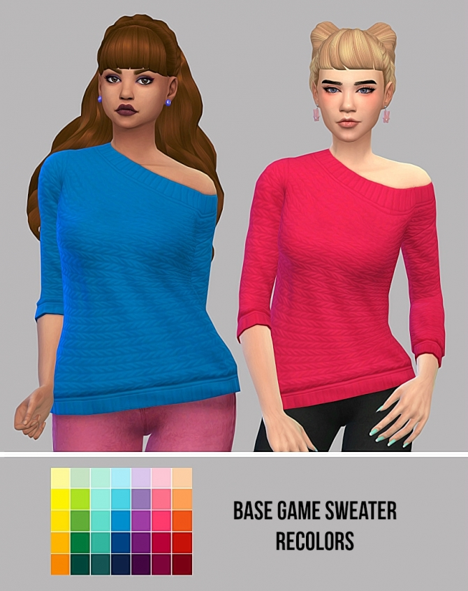 Base Game Sweater Recolors At Maimouth Sims4 187 Sims 4 Updates