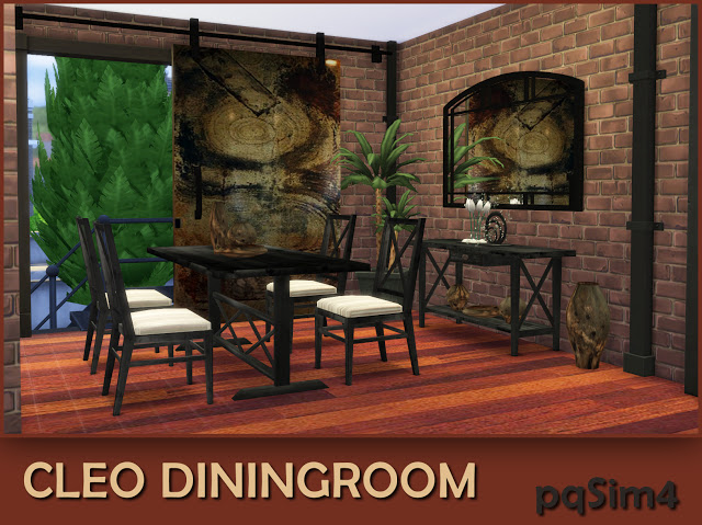 Sims 4 Cleo industrial dining room at pqSims4