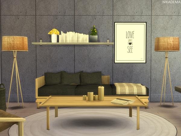 Sims 4 Totem Livingroom by Nikadema at TSR