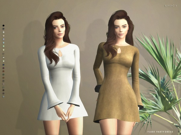 Sims 4 Flare Party Dress by serenity cc at TSR