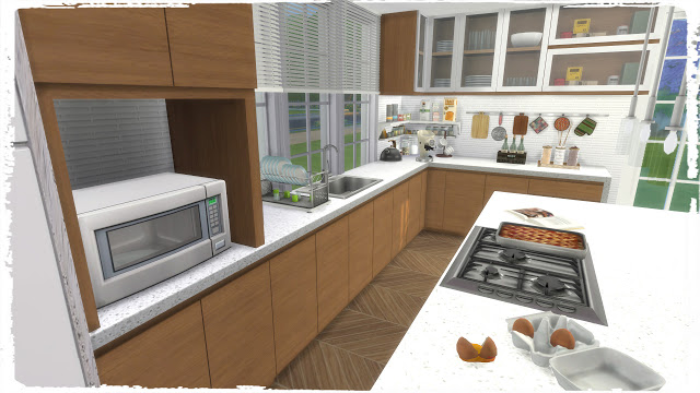 Big family kitchen at dinha gamer sims 4 updates for Large family kitchen