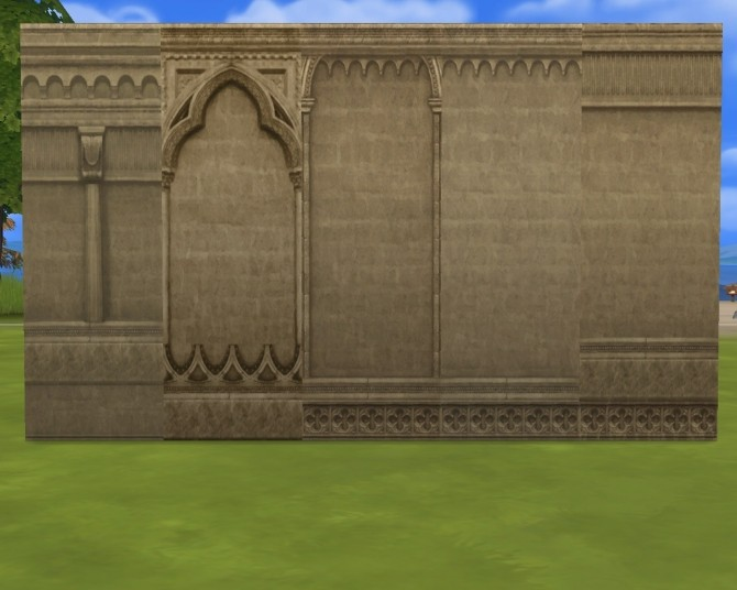 Sims 4 Monastery arch and walls at Mara45123