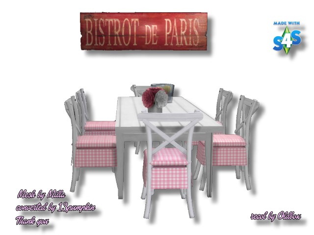 Table & Chair recolors by Oldbox at All 4 Sims image 11713 Sims 4 Updates