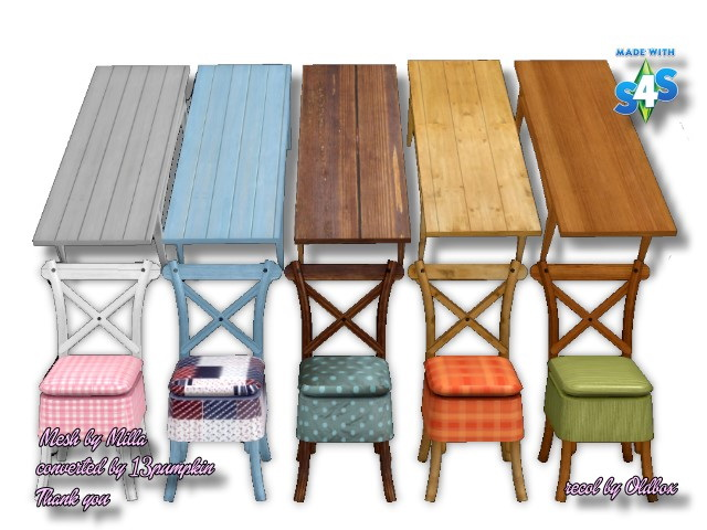 Table & Chair recolors by Oldbox at All 4 Sims image 11814 Sims 4 Updates