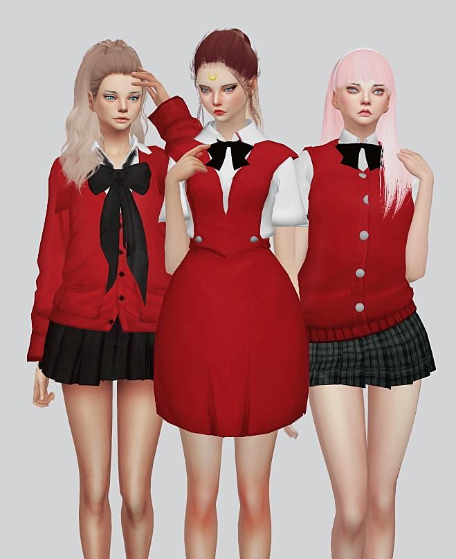 School Uniform Part1 At Kalewa A 187 Sims 4 Updates