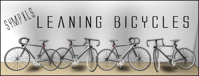 Sims 4 Decorative leaning bicycles TS3 to TS4 conversion by Sympxls at SimsWorkshop