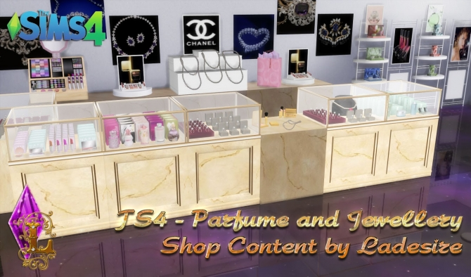 Parfume And Jewellery Shop Content At Ladesire 187 Sims 4